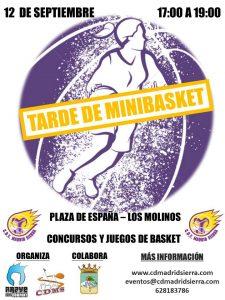 CARTEL TARDE DE MINIBASKET